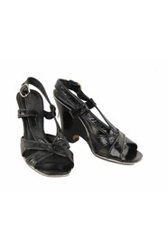Leather Wedge Sandals Shoes