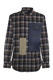 Check Mix Relaxed Shirt