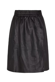Black Second Female Melvin Leather Skirt Skjørt