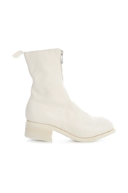 MID FRONT ZIP BOOTS SOLE LEATHER