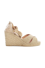 LUREX CROSSED ESPADRILLES W/LACE ON ANKLE