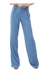 Spodnie z zakładkami typu palazzo