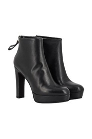 Platform ankle boots in nappa leather