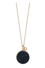 Ever Blue Sand Stone Disc vhain necklace