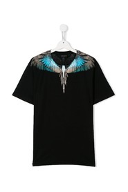 wings motif t-shirt