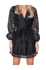 Wrapover Belted Mini Dress
