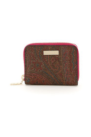 small zip-around paisley wallet