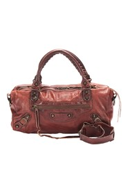 Motocross City First Lambskin Leather Satchel