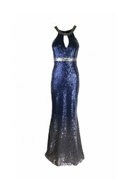 Ombre halter sequin dress