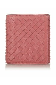 Pre-owned Intrecciato Leather Bifold Wallet