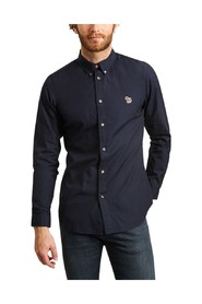 Zebra embroidered patch shirt