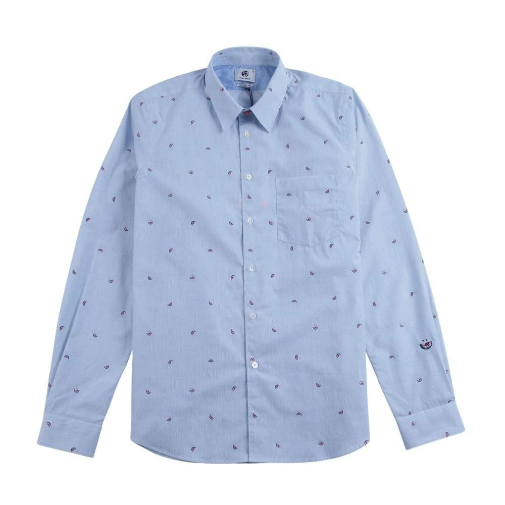 Tailored Cotton Shirt Watermelon Broderie