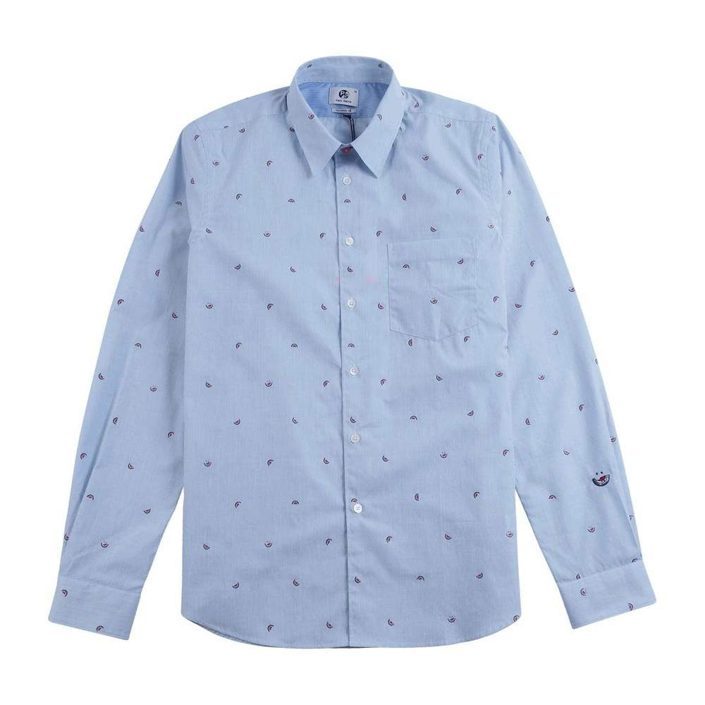 Tailored Cotton Shirt Watermelon Broderie
