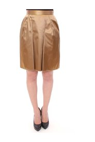Stretch Above Knee Zipper Skirt