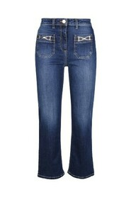 Mini flare jeans with gold stirrup