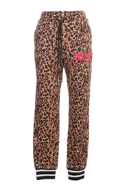 LEOPARD PRINTED KNITTED PANTS
