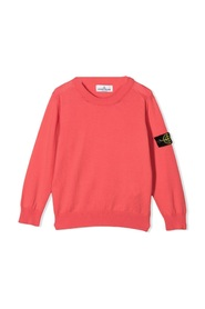 Stone Island Sweaters Coral Red