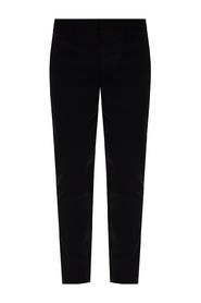 Pleat-front wool trousers