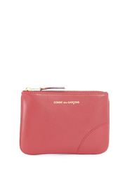 Wallet in red calf leather