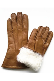 Varmt handsker Fårskindshandsker Lambskinhandsker Håndlavet Brun