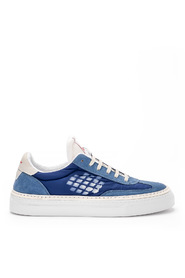 Roxy blue suede and nylon sneaker