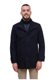 Cappotto regular fit in misto lana con pettorina interna rimovibile