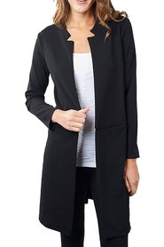 Jacket Open-Front Notched-Collar