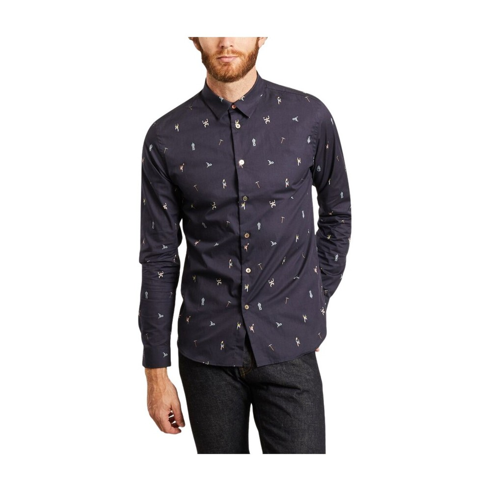 PS By Paul Smith Escalade Trykt shirt