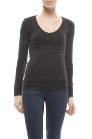 Claesens Ladies V neck t-shirts l/s black