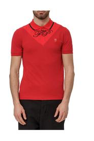 Polo Shirt with Contrasting Insert