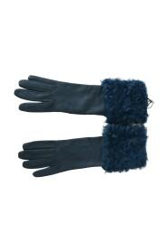 Mid Arm Læder Shearling Fur Handsker