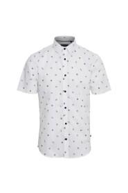Hvit Matinique Robo Ss Ocean Print Skjorte