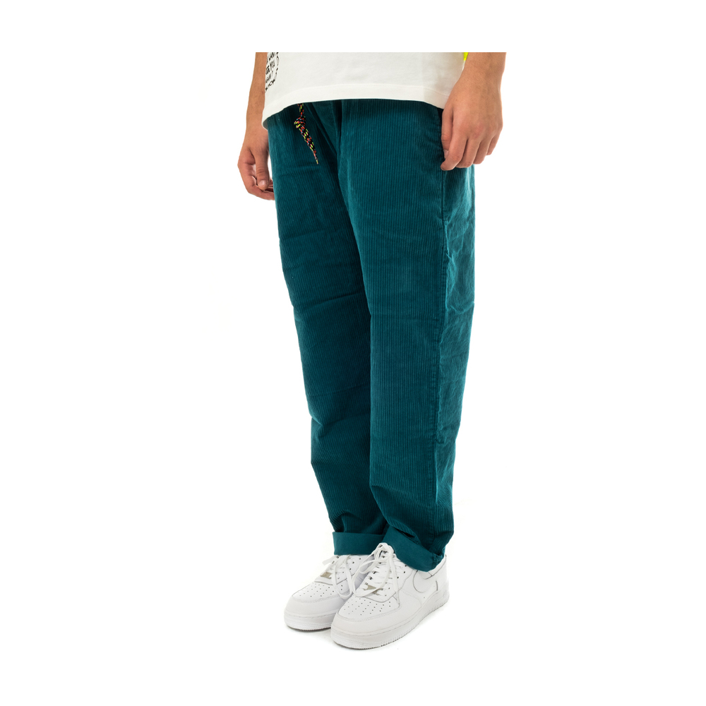 SHOE' Green MEN'S CORD CHINO TROUSERS WITH ELASTIC WAIST PAZ85102.OIL SHOE'