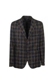 Two-button plaid jacket blazer