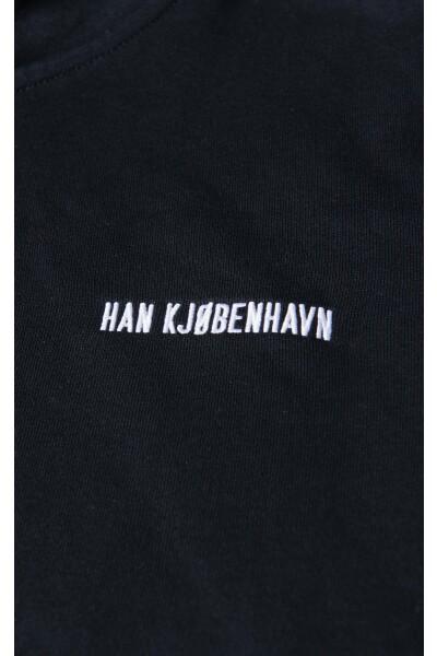 Han Kjøbenhavn Black Logo Zip Hoodie