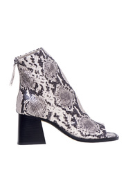 Checked ankle boot