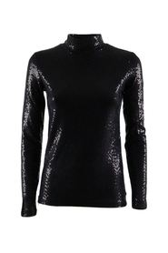 Women's high neck lined sweater