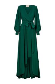 Długa sukienka z krótszym przodem Irmina