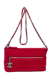 Front and Top CC Zip Embossed Double Flap