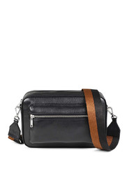 Black Markberg Madison Crossbody Bag Grain Black W/Chestnut+Black Veske