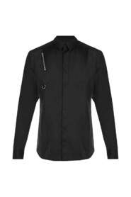 SHIRT WITH LONG SLEEVES AND CONTRASTING INSERT