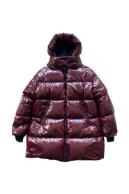 Maroon shiny padded coat