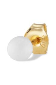 Splash Bead Stud White Agate