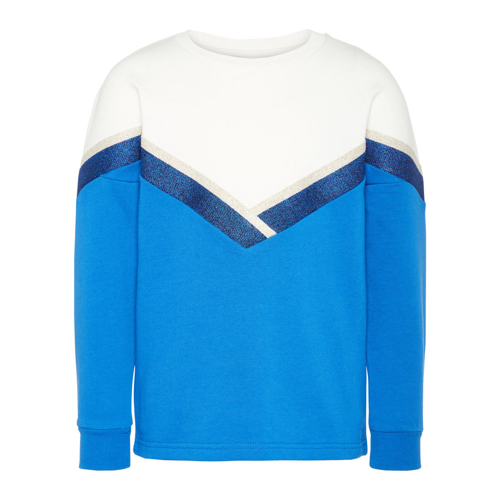 Sweatshirt colourblocking glitter