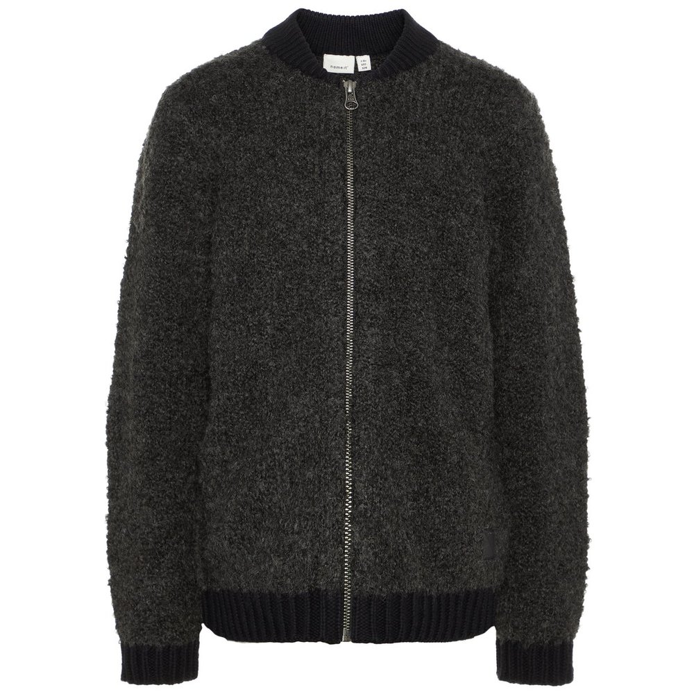 Cardigan knitted bomber