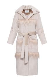 Długi płaszcz ze sztucznego futra