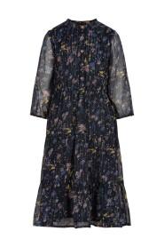 Dress Flowers Chiffon 3/4 Sleeves (821600)
