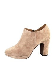SUEDE ANKLE BOOTS WITH ZIP AT HEEL SIDE