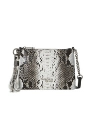 IRIS POUCH PYTHON PRINTED LEATHER WITH SHOULDER STRAP
