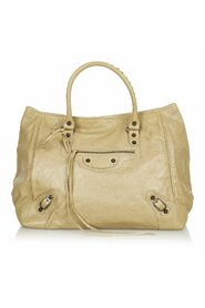 Pre-owned Motocross Sunday Lambskin Leather Tote Bag
